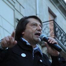 Marcello Rugna al comizio del 6 maggio 2014